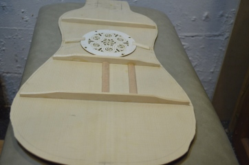 Baroque Guitar Soundboard